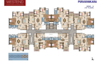blockplan_wingA_19th floor